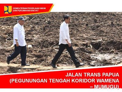 15 Foto Jalan Trans Papua yang sedang dibangun, KEREN !!!