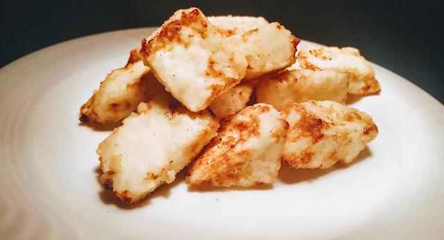Deep fried paneer for chilli paneer recipe