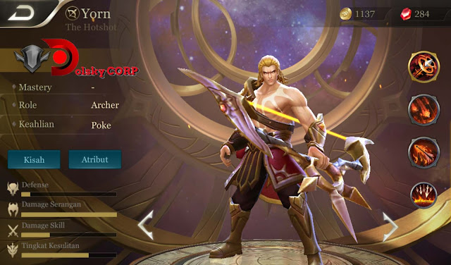 Arena of Valor : Hero Yorn ( The Hotshot ) High Damage Builds Set up Gear