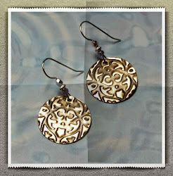 German Silver Embossed Earrings