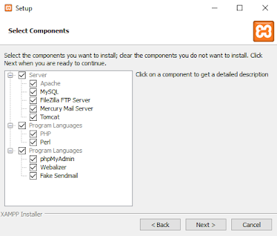 Cara Install Xampp di Windows PC - components xampp