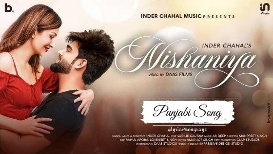 NISHANIYA LYRICS - Inder Chahal | Punjabi Song | Lyrics4songs.xyz