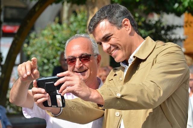 Sánchez, en Barakaldo durante la campaña en septiembre de 2016