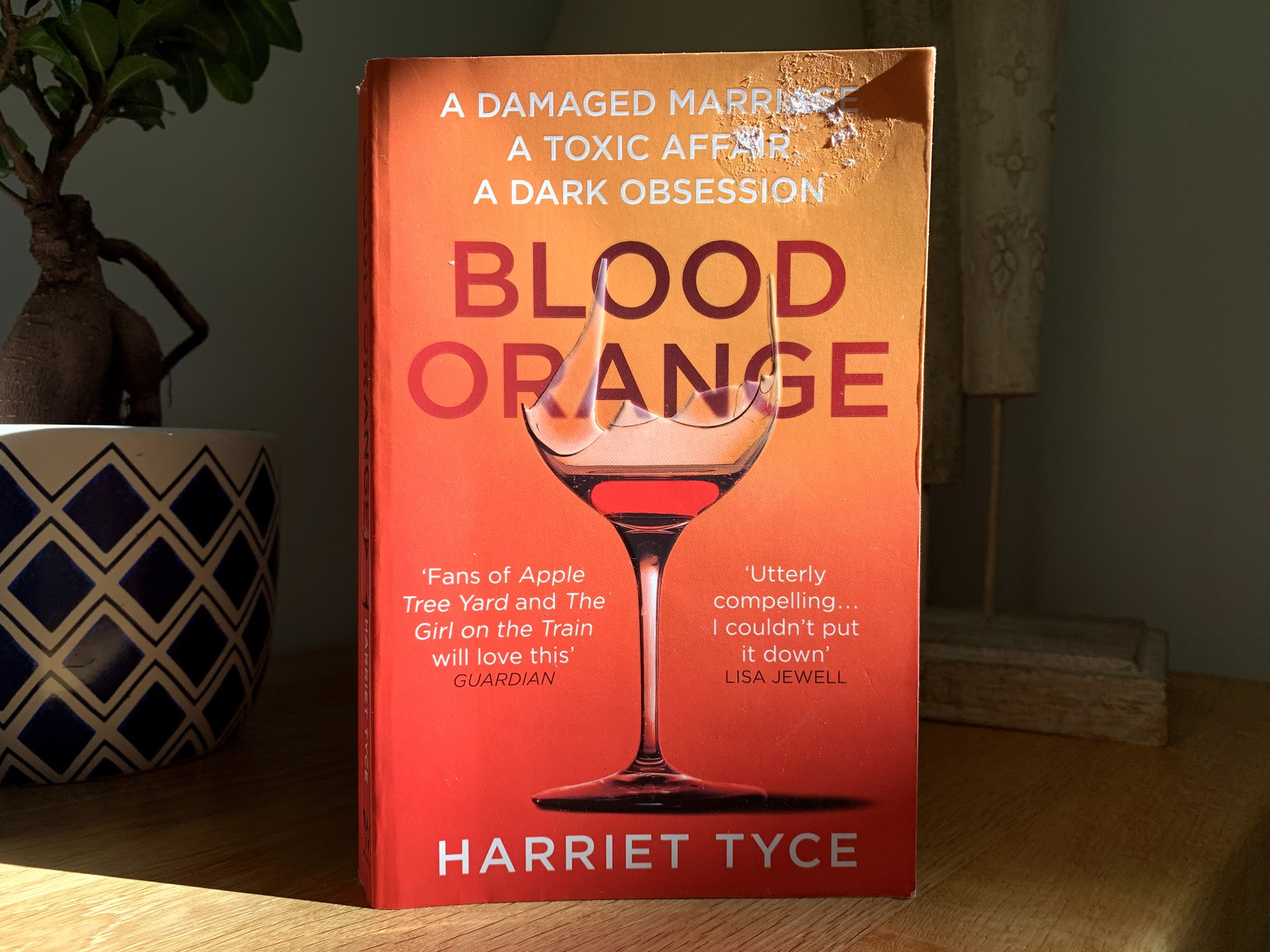 Blood Orange by Harriet Tyce on a shelf