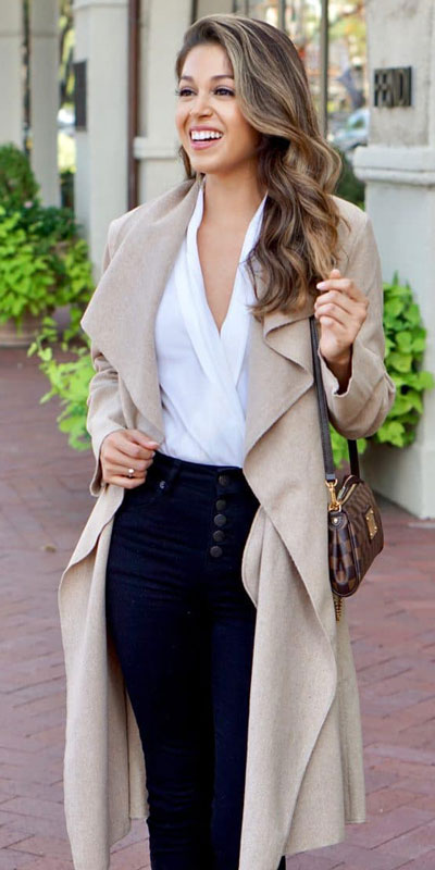 Are you wondering which pieces of clothing are in style this winter? Here we've prepared a complete list of the best winter fashion lookbook. Women's Outfit Ideas via higiggle.com | Trench coat | #winterstyle #fashion #coat