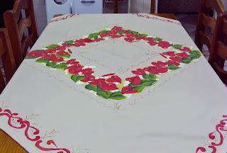 toalha pintada a mão