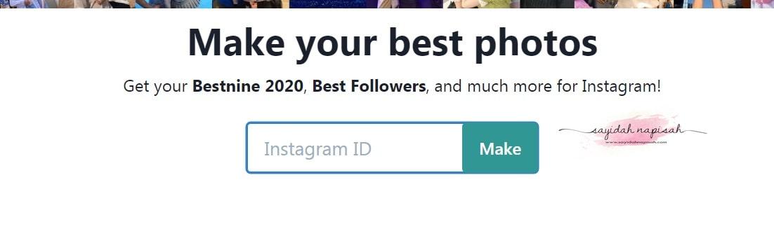 cara buat best nine 2020 instagram ig