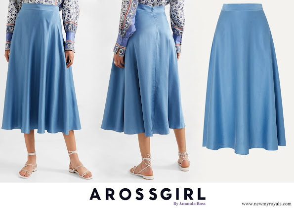 Countess of Wessex wore AROSS GIRL X SOLER Alex silk satin midi skirt