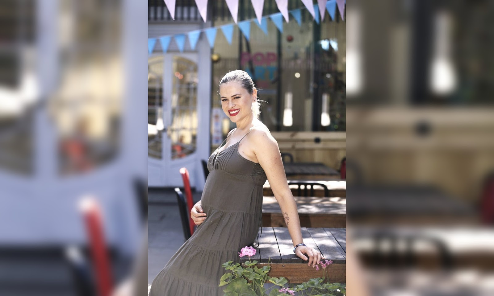 Eliana Albasetti, embarazada