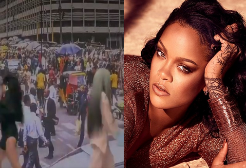 Rihanna uses a photo of CMS in Lagos for her Fenty campaign video