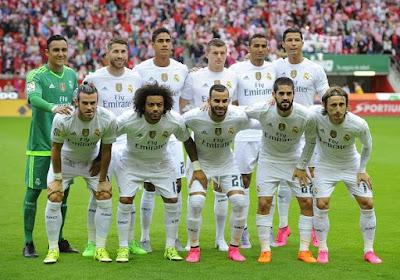 Daftar Skuad Pemain Real Madrid 2017-2018