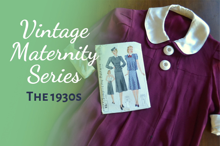 1930s Vintage Maternity fashion style