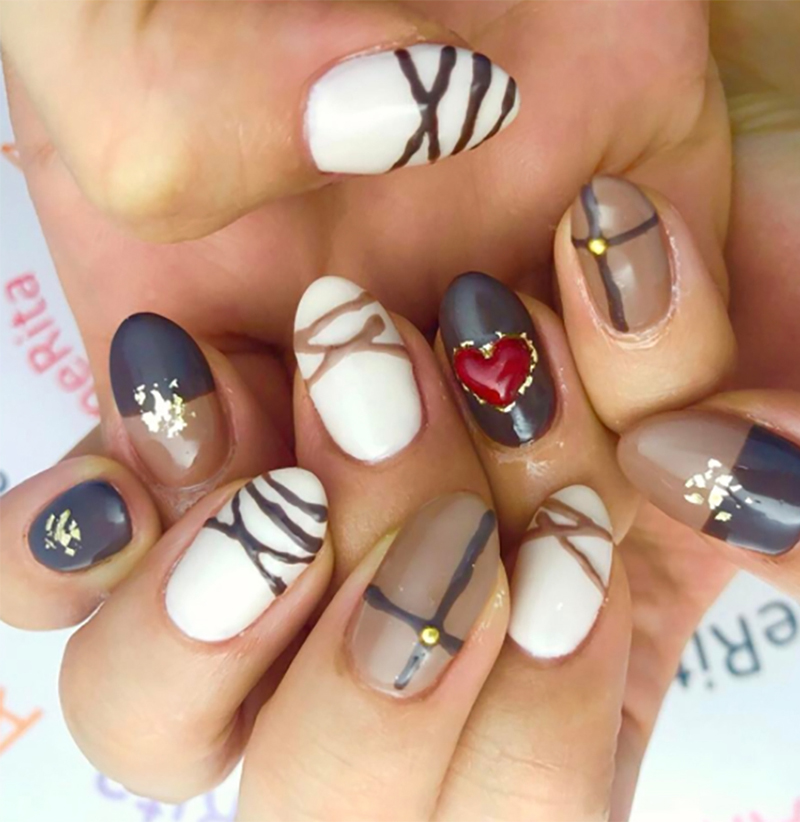 Chocolate Nail Art Is The Yummiest New Valentine's Day Trend