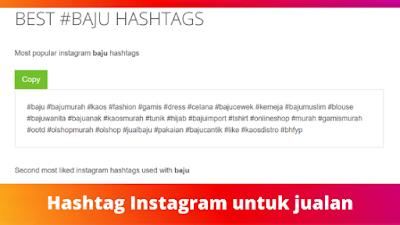 Hashtag Instagram untuk jualan