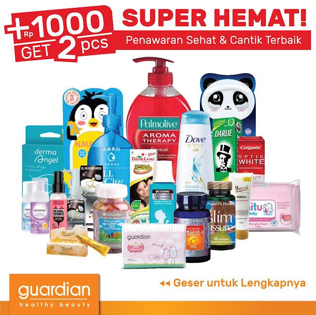 #Guardian - #Katalog Promo Super Hemat + 1000 Get 2 Pcs (s.d 16 Okt 2019)