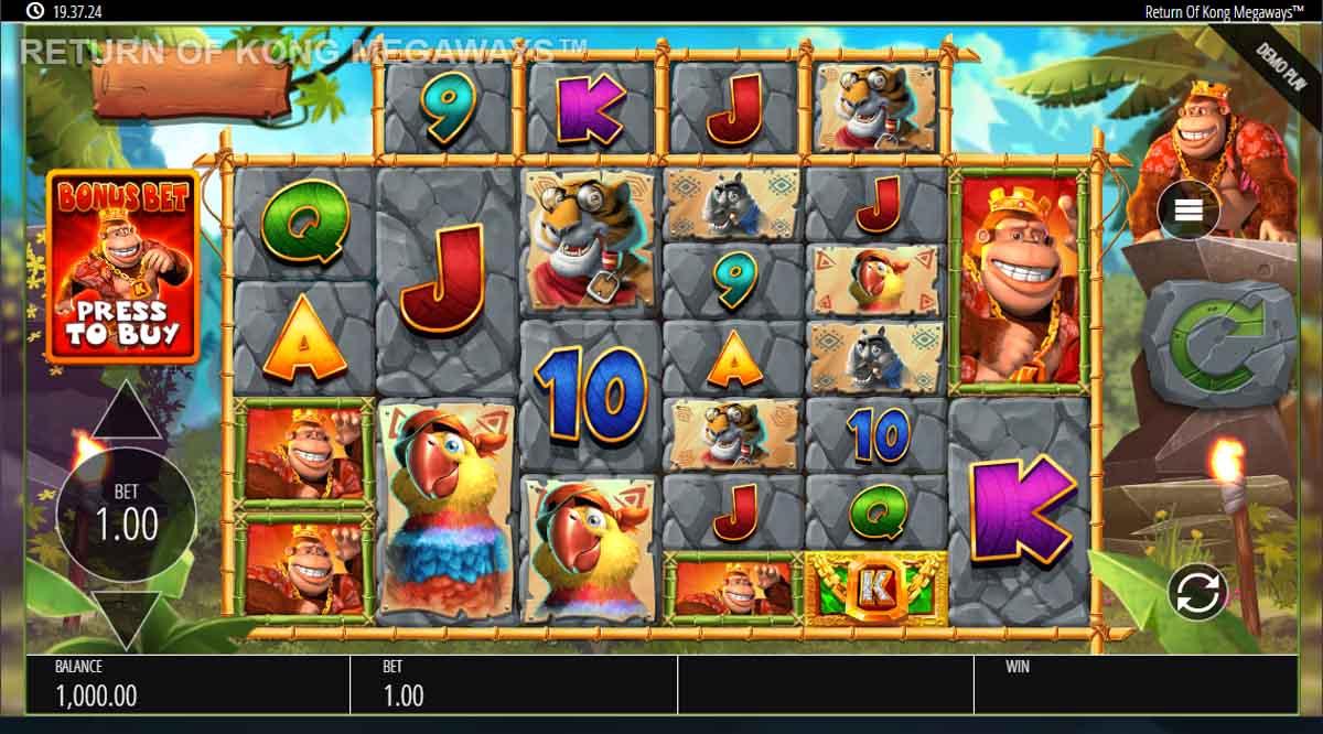 Return of Kong Megaways - Demo Slot Online Blueprint Gaming Indonesia