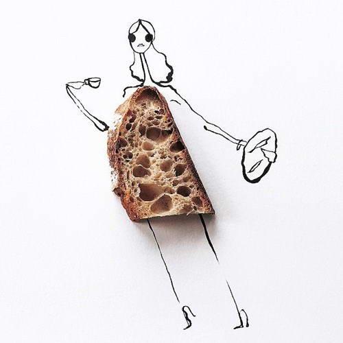 Phác thảo thời trang từ thực phẩm