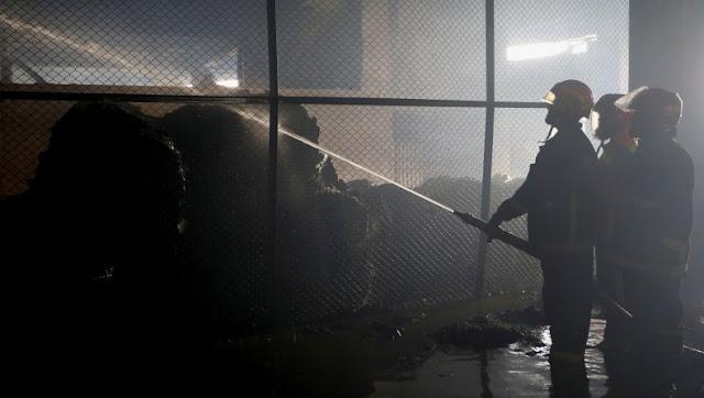 Gudang Logistik Terbakar, 14 Orang Meninggal Dunia dan 12 Orang Luka