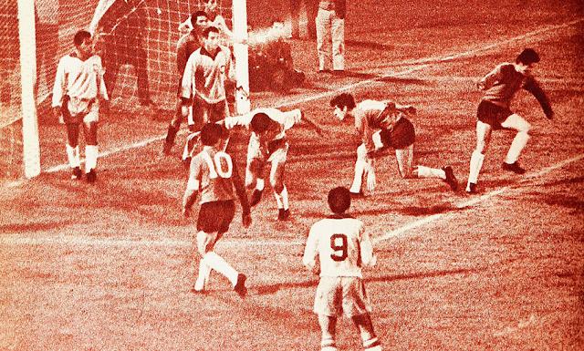 Chile y Brasil en partido amistoso, 19 de septiembre de 1967