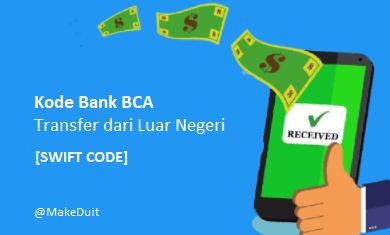 Kode Bank BCA Transfer dari Luar Negeri [Swift Code]