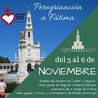 Peregrinación a Fátima del 3 al 6 de Nov.