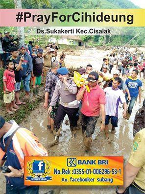 Facebooker Subang FBS) Buka Rekening Donasi korban banjir bandang dan longsor Cisalak, Subang