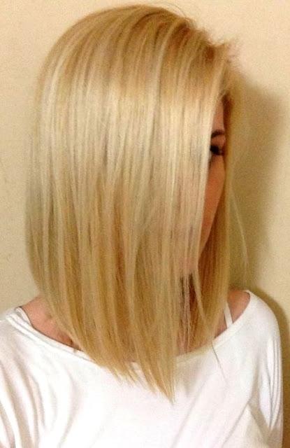 Medium Length Hairstyle and Haircuts For Women - Straight Blonde Medium Hair