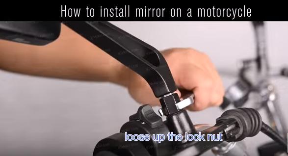 Kiwav Motors Motorcycle Mirror Installation Guide