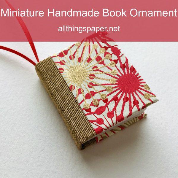 Miniature Handmade Book Ornament