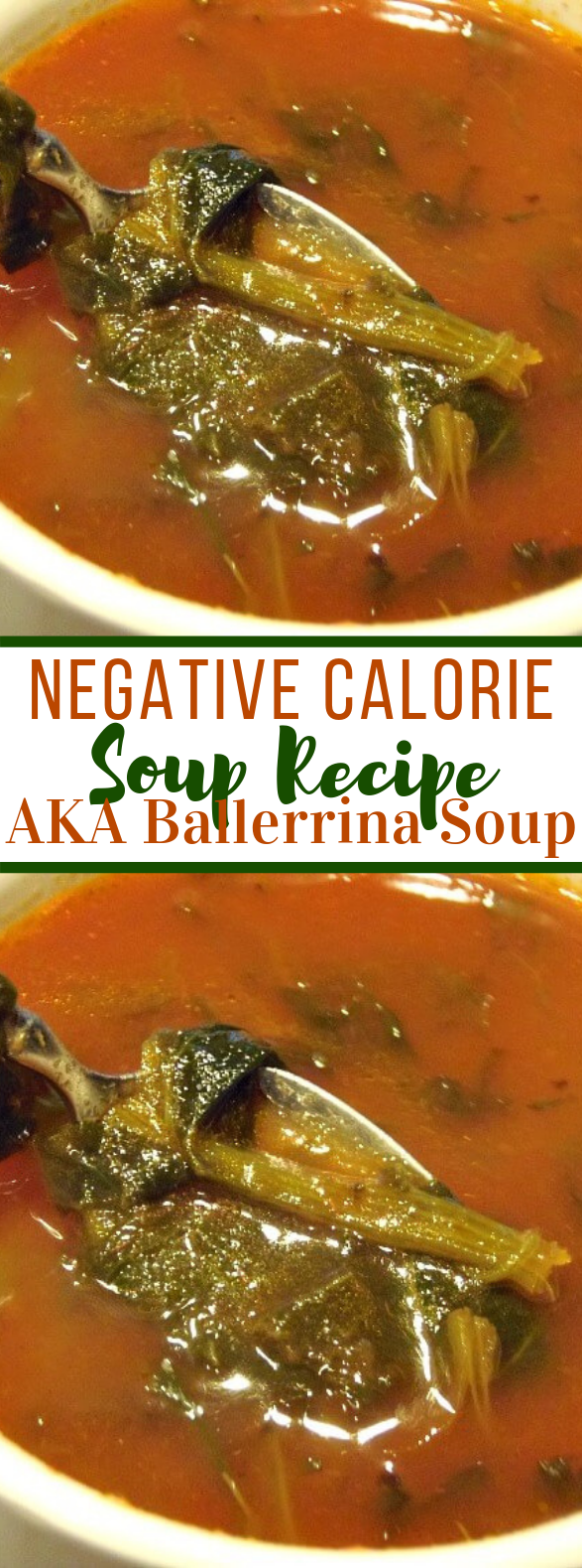 Negative Calorie Soup Recipe aka Ballerina Soup #diet #weightloss