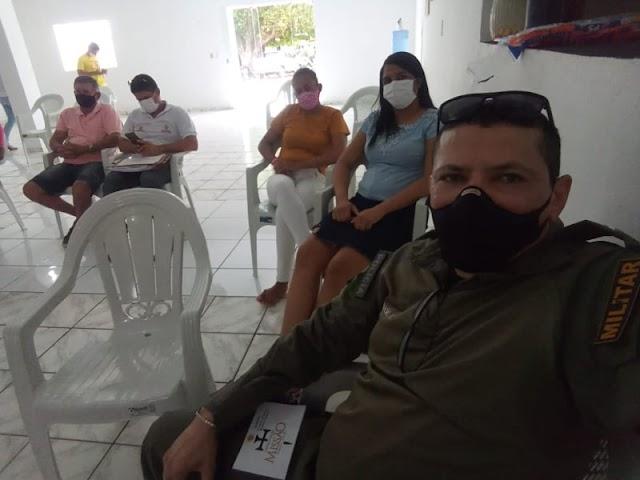 GPM de Aroazes participa de debate para controle das queimadas e incêndios no município