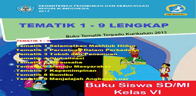 Materi Buku Kelas 6 Tematik 1-9 Lengkap Kurikulum 2013 jalurppg.id