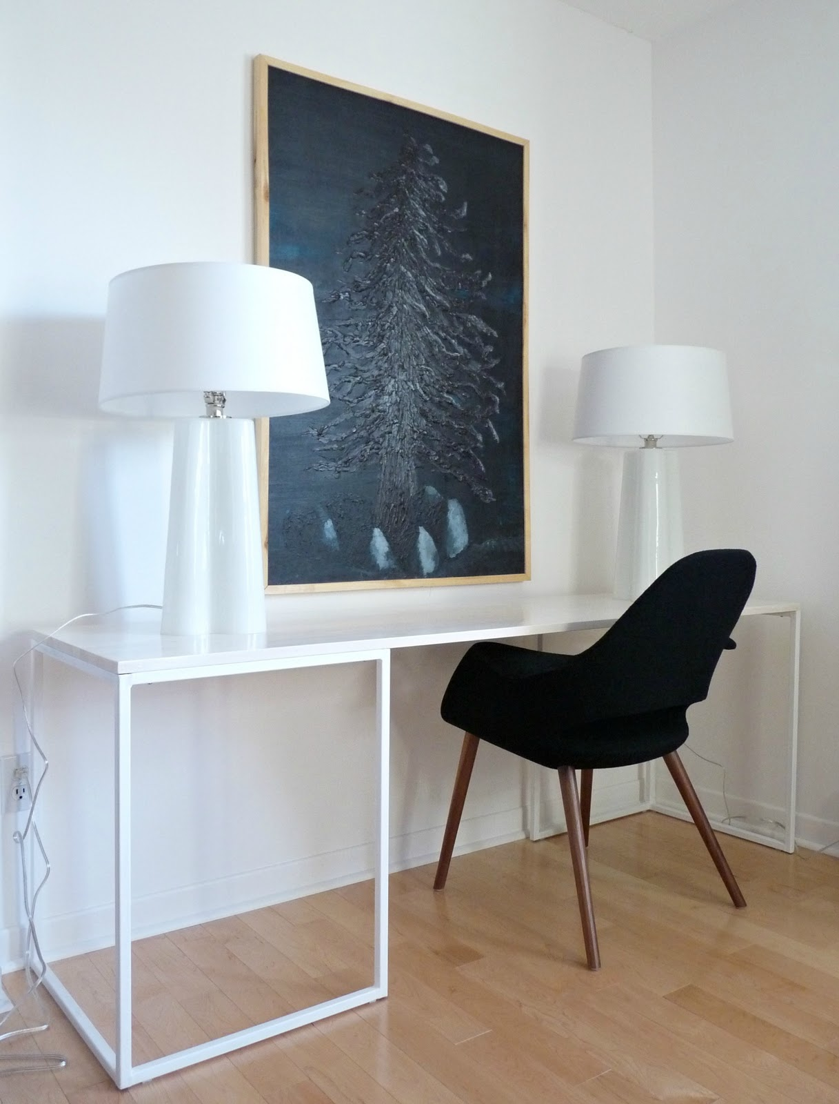 Desk Chair Diy Patio Covers Near Me Welded Complete Dans Le Lakehouse