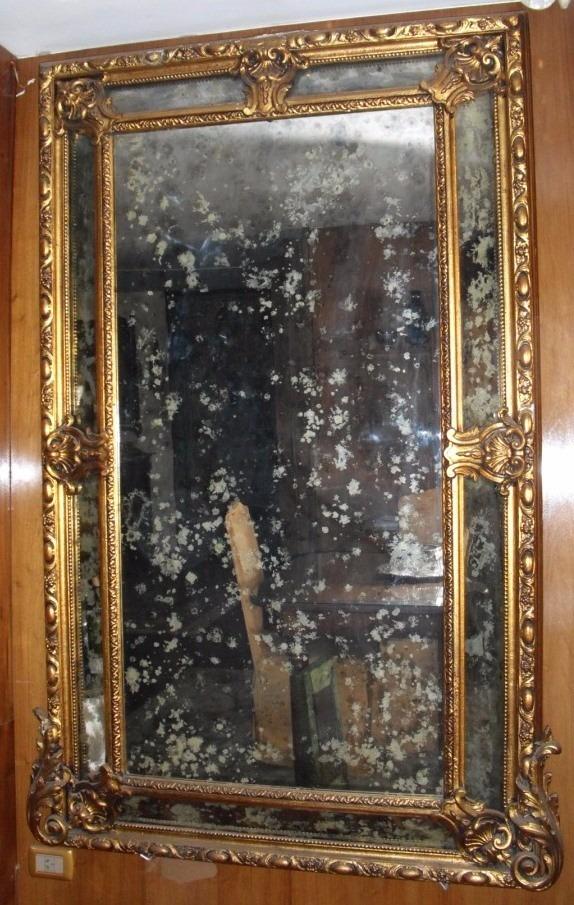 Detras de la columna - Espejo veneciano antiguo ...