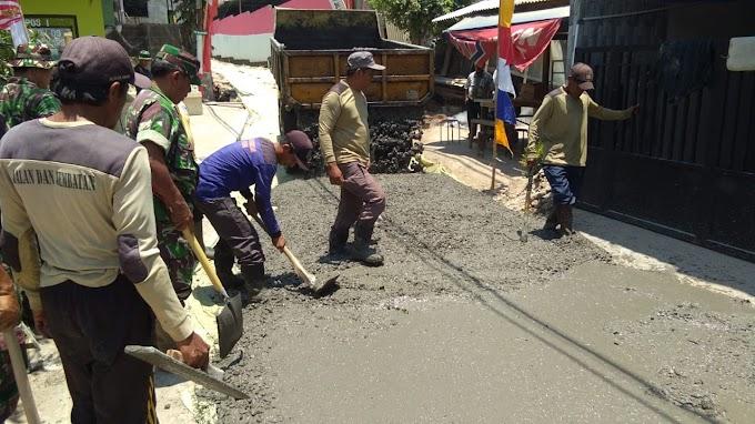 Betonisasi Jalan Swadaya Program TMMD Capai 65 Persen