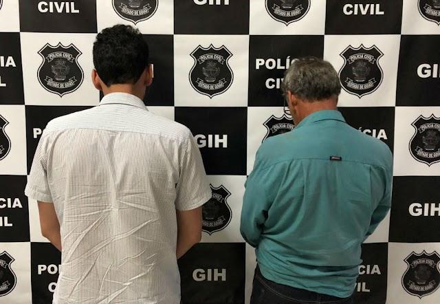 Anápolis: Pai e filho são presos suspeitos de matar comerciante