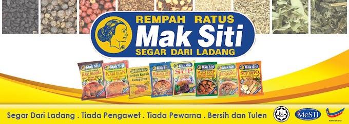 Rempah ratus Mak Siti kisah disebalik kejayaan