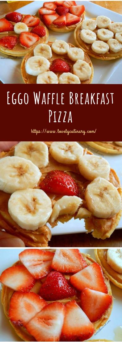 Eggo Waffle Breakfast Pizza #healthy #recipe