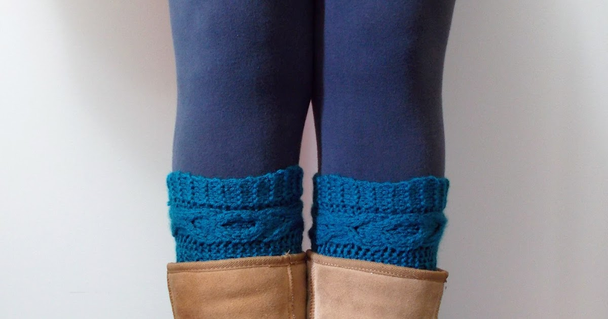 Lewis Knits: XOXO Cable Boot Cuffs Knitting Pattern