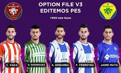 PES 2020 PS4 Editemos PES Option File V3 AIO