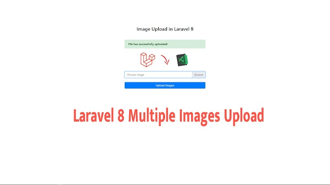Laravel 8 Multiple Images Upload with Validation Example