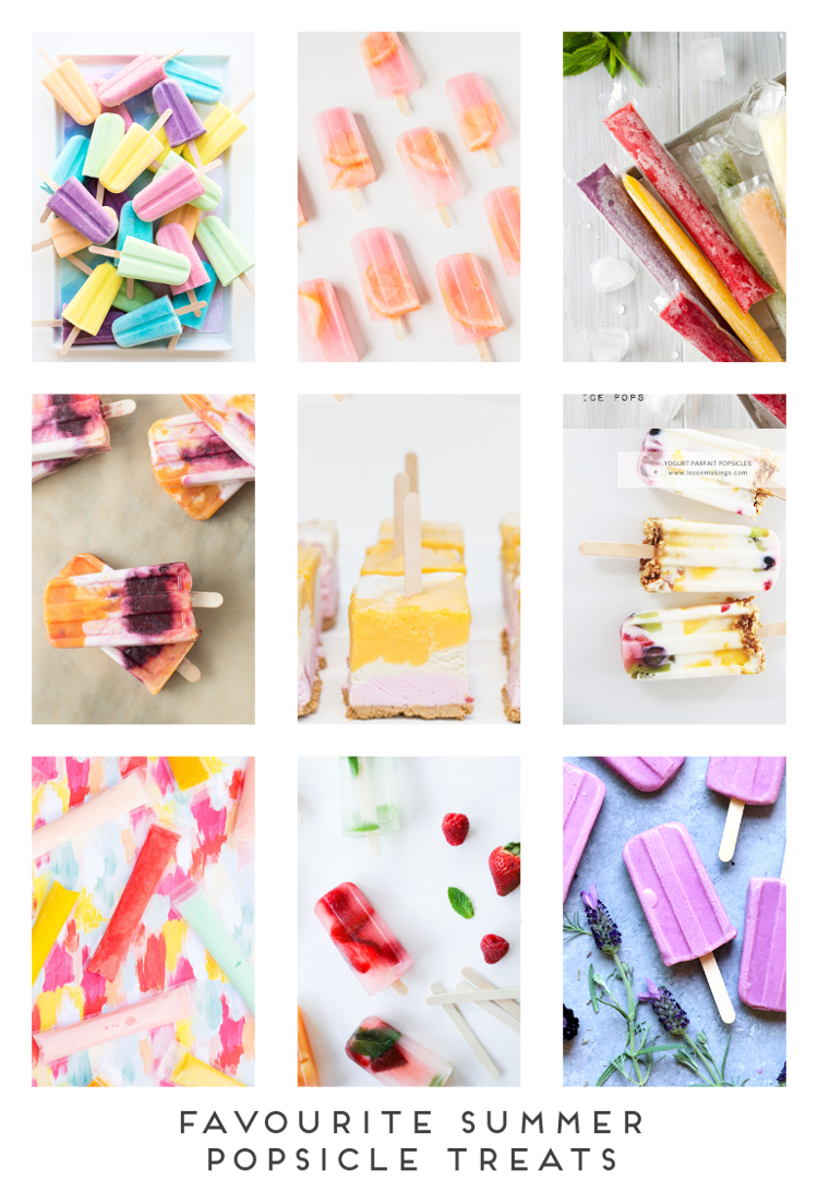FAVOURITE SUMMER POPSICLE TREATS.