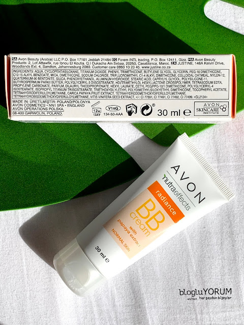 Avon nutra effects radiance 5in1 bb krem içerik