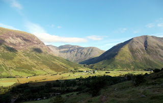 wasdale head from path to scafell