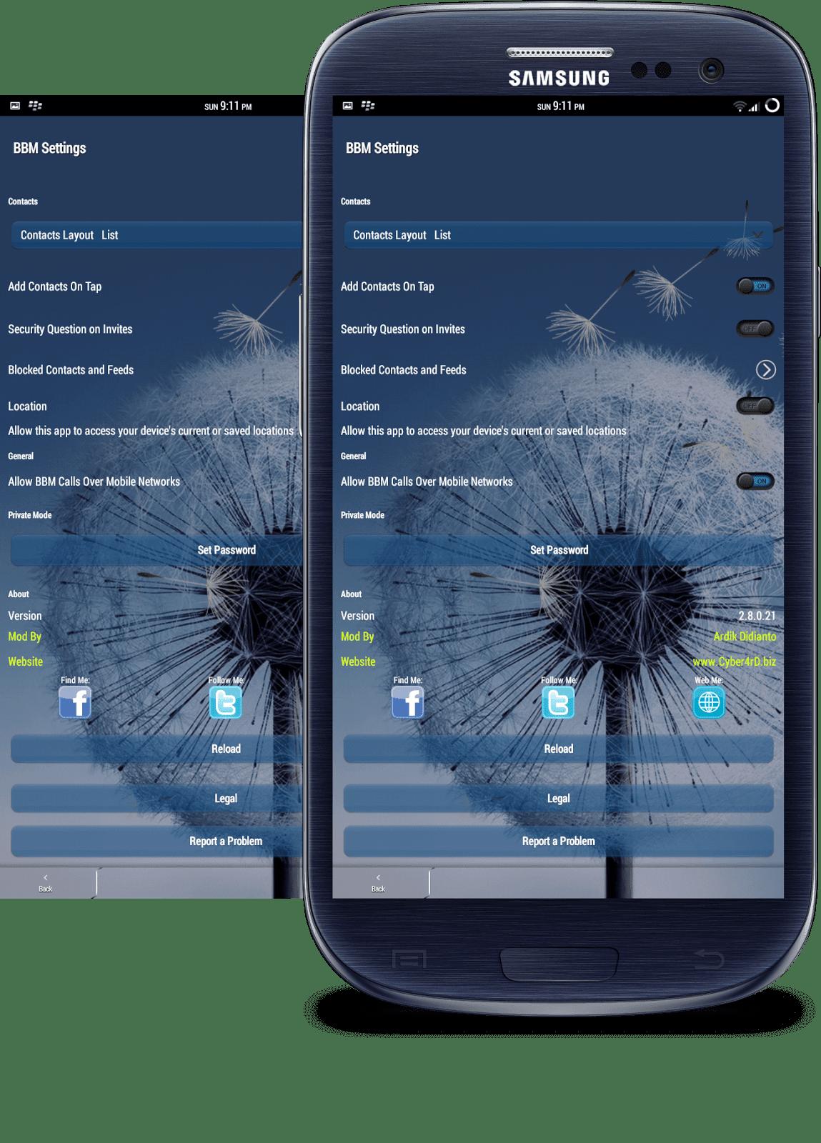 BBM Mod 2.8.0.21 FULL Transparan Terbaru