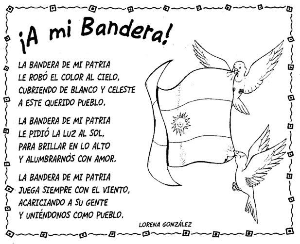 Bandera argentina para niños, dibujos para colorear
