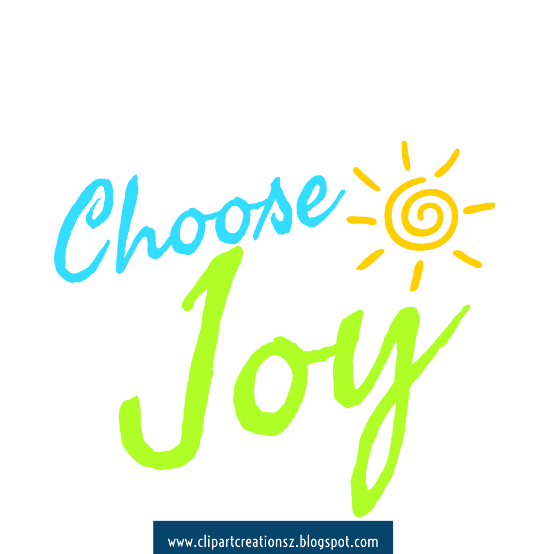Choose Joy Wordart Clipart Free