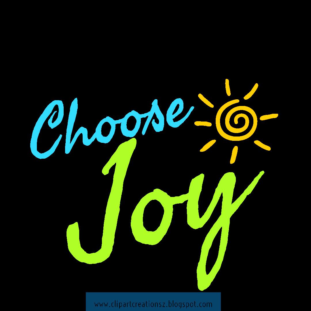 Choose Joy Wordart Clipart Free