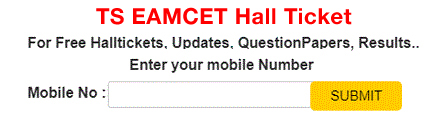 Telangan Eamcet Halltickets 2018
