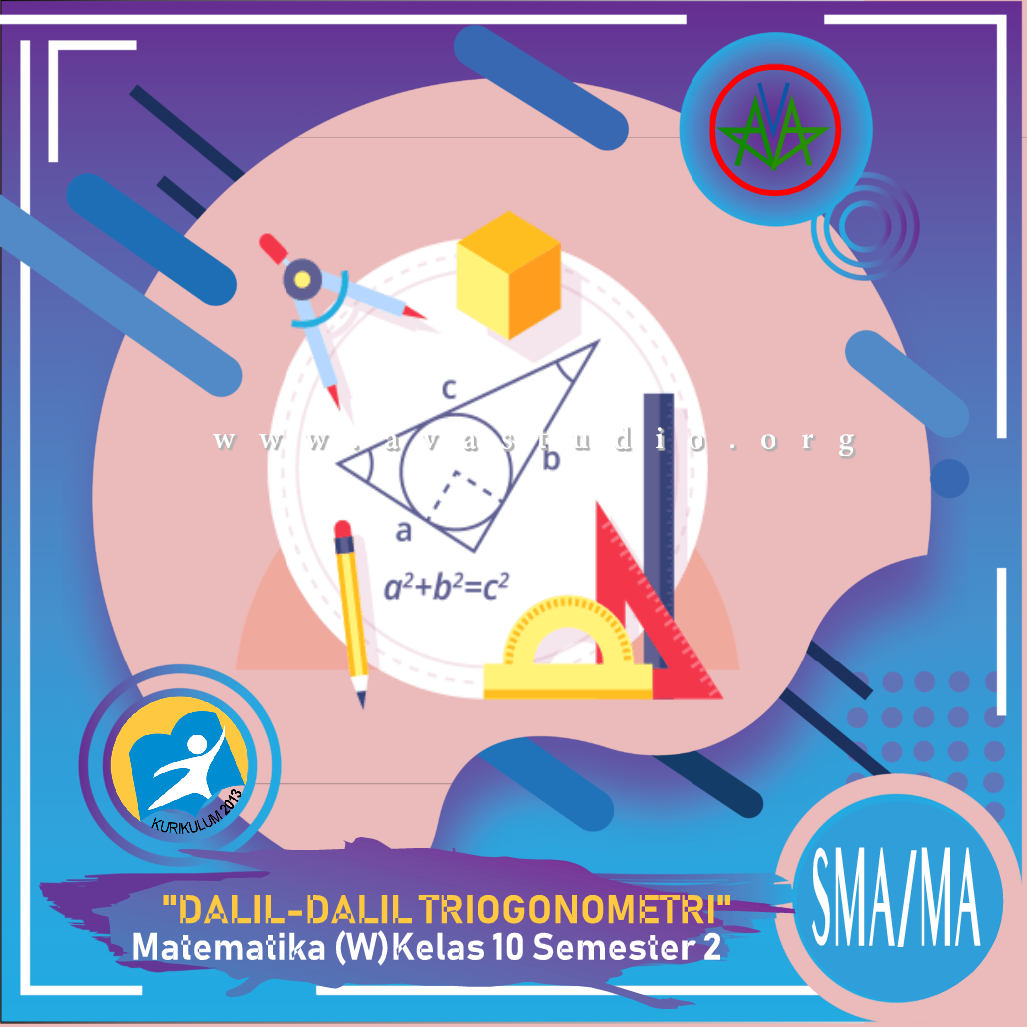 "Download Rangkuman Materi ""Matematika - Dalil-dalil Trigonometri "" Kurikulum 2013 Revisi 2020 dalam bentuk File PDF/Docx/PPT"